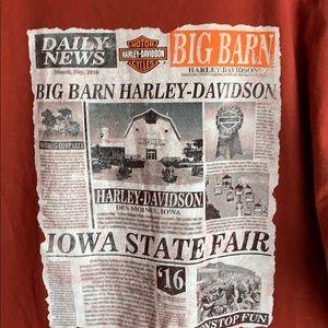 Harley-Davidson Crimson Official Tee T-Shirt Iowa